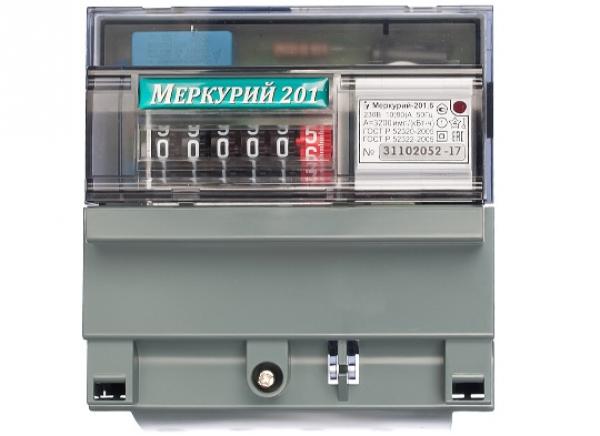 Счетчик электроэнергии INCOTEX Меркурий 201.6